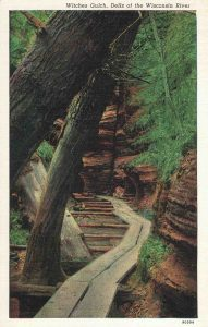 Vintage Postcard Wisconsin Dells Witches Gulch
