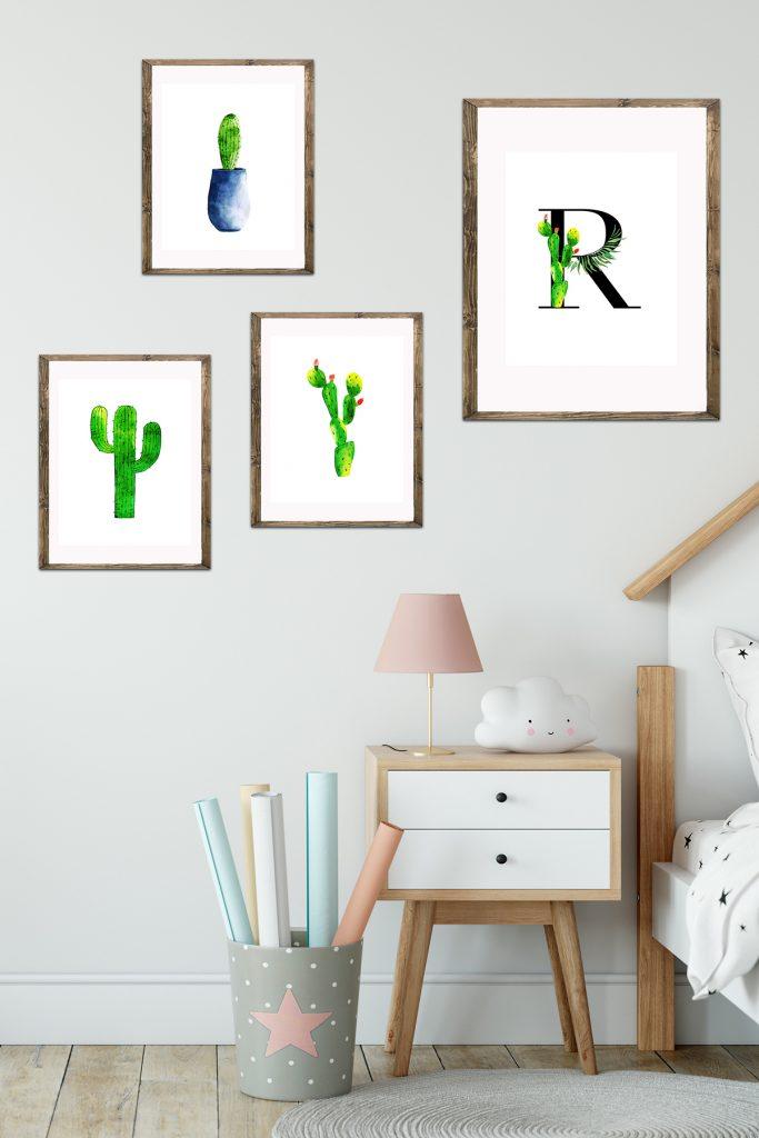 Watercolor Cactus Decor