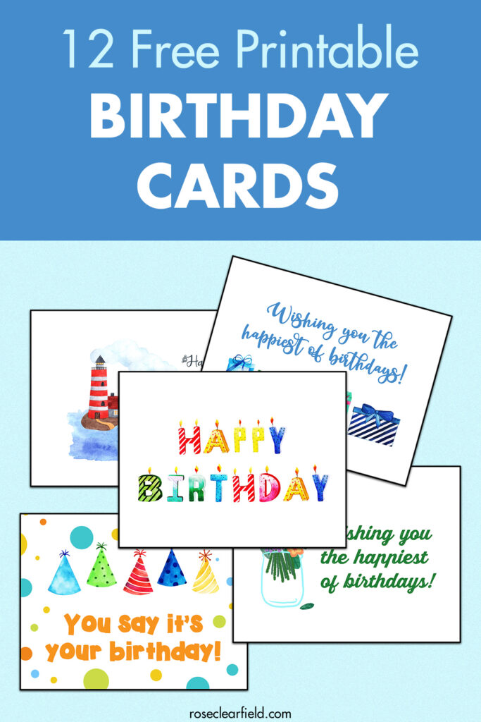 12 Free Printable Birthday Cards