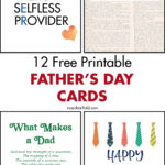 12 Free Printable Father's Day Cards
