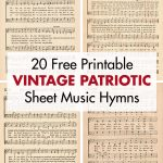 20 Free Printable Vintage Patriotic Sheet Music Hymns