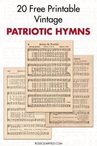 20 Free Printable Vintage Patriotic Sheet Music Hymns