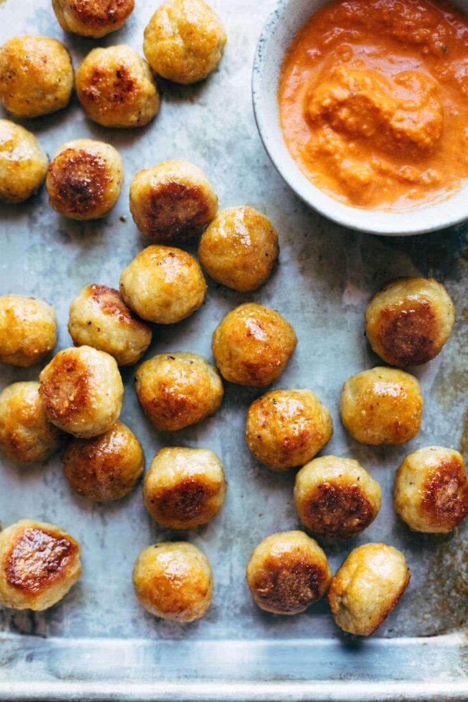 Baked Chicken Meatballs Pinch of Yum