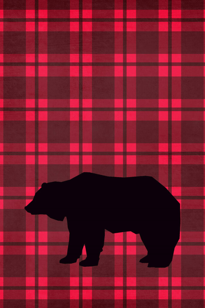 Bear Lumberjack Plaid Printable Nursery Decor