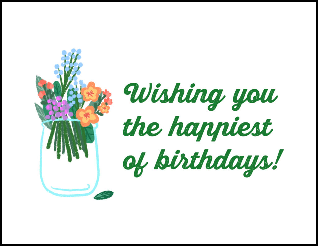 Bouquet Happiest of Birthdays A2 Greeting Card