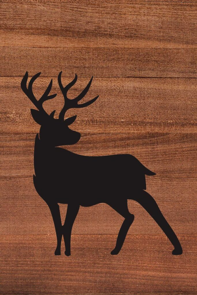 Deer Wood Background Animal Silhouette Nursery Decor