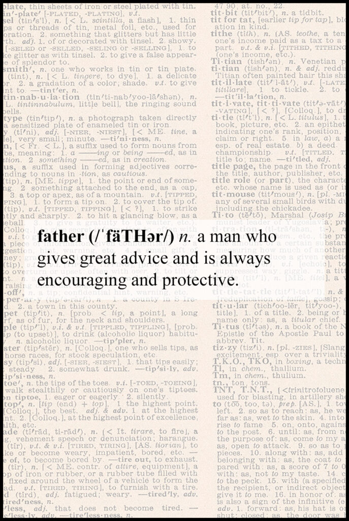 Father Definition Father's Day Greeting Card