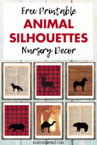 Free Printable Animal Silhouettes Nursery Decor