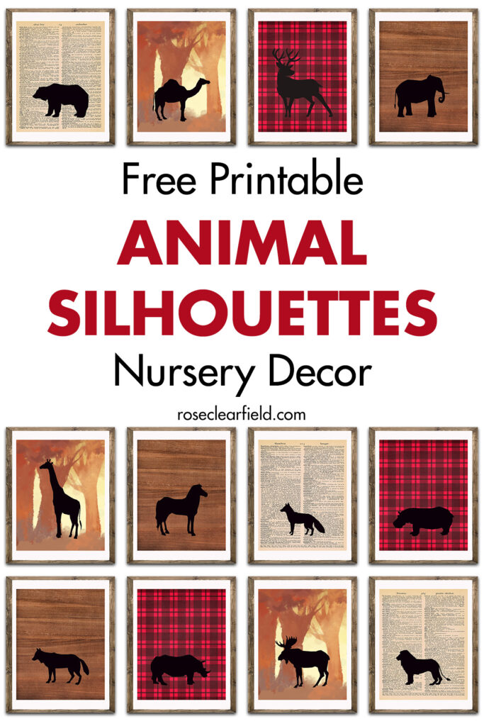 Free Printable Animal Silhouettes Nursery Decor