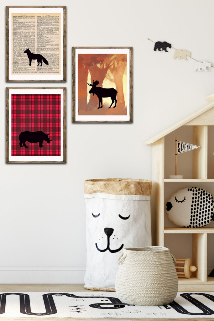 Animal Silhouettes Decor in Kid's Bedroom