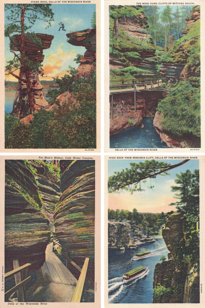 Free Printable Vintage Wisconsin Dells Postcards