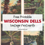Free Printable Wisconsin Dells Vintage Postcards