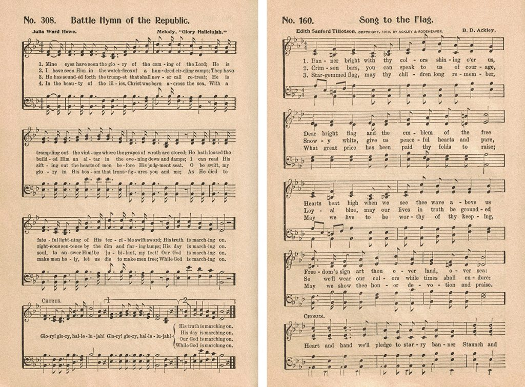 Great Revival Hymns Patriotic Hymns Collage
