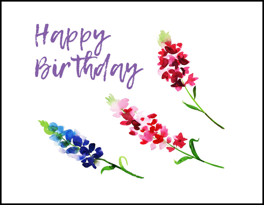 Happy Birthday Flowers A2 Greeting Card