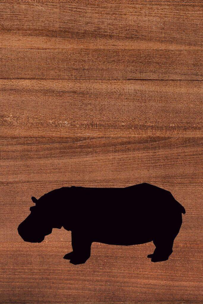 Hippo Wood Printable Nursery Decor