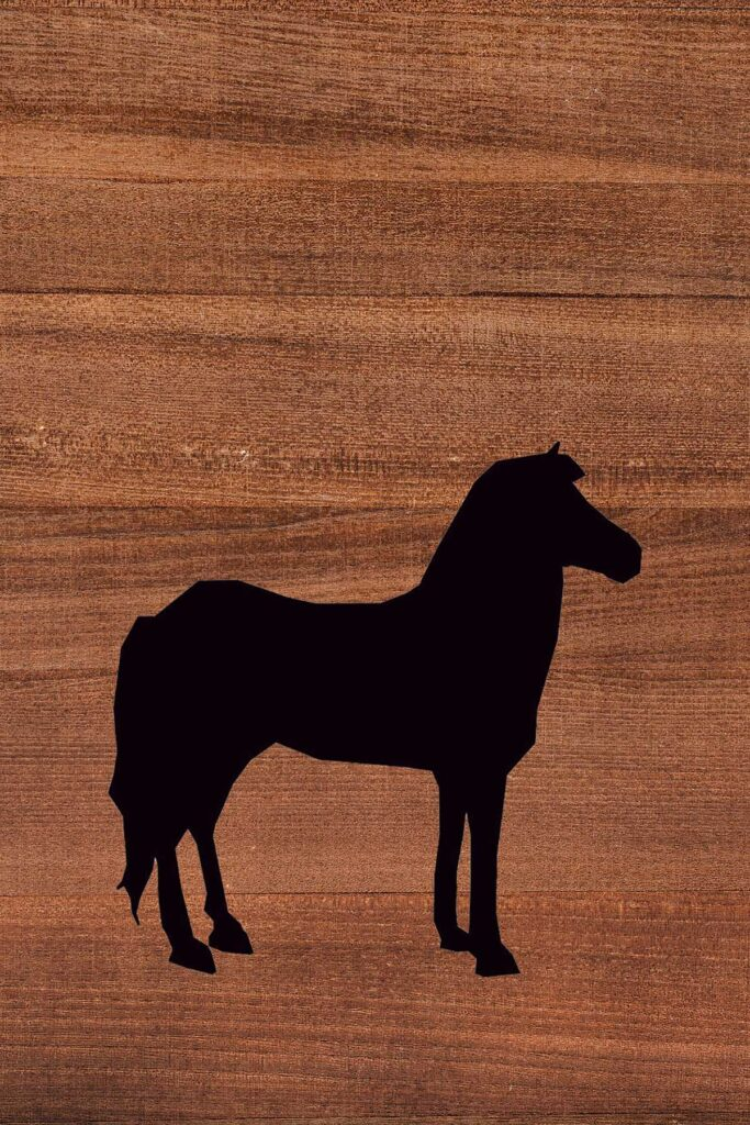 Horse Wood Background Printable Nursery Wall Art