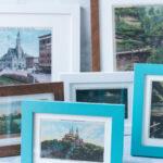 How to Make Vintage Postcard Print Wall Art