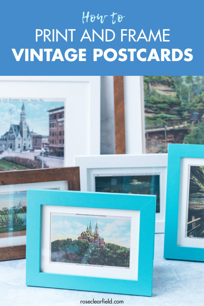 How to Print and Frame Vintage Postcards