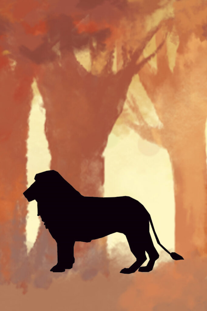 Lion Forest Printable Nursery Wall Art