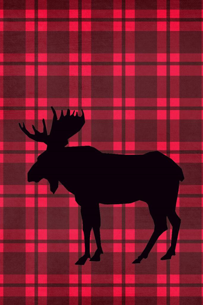 Moose Lumberjack Plaid Printable Nursery Wall Decor