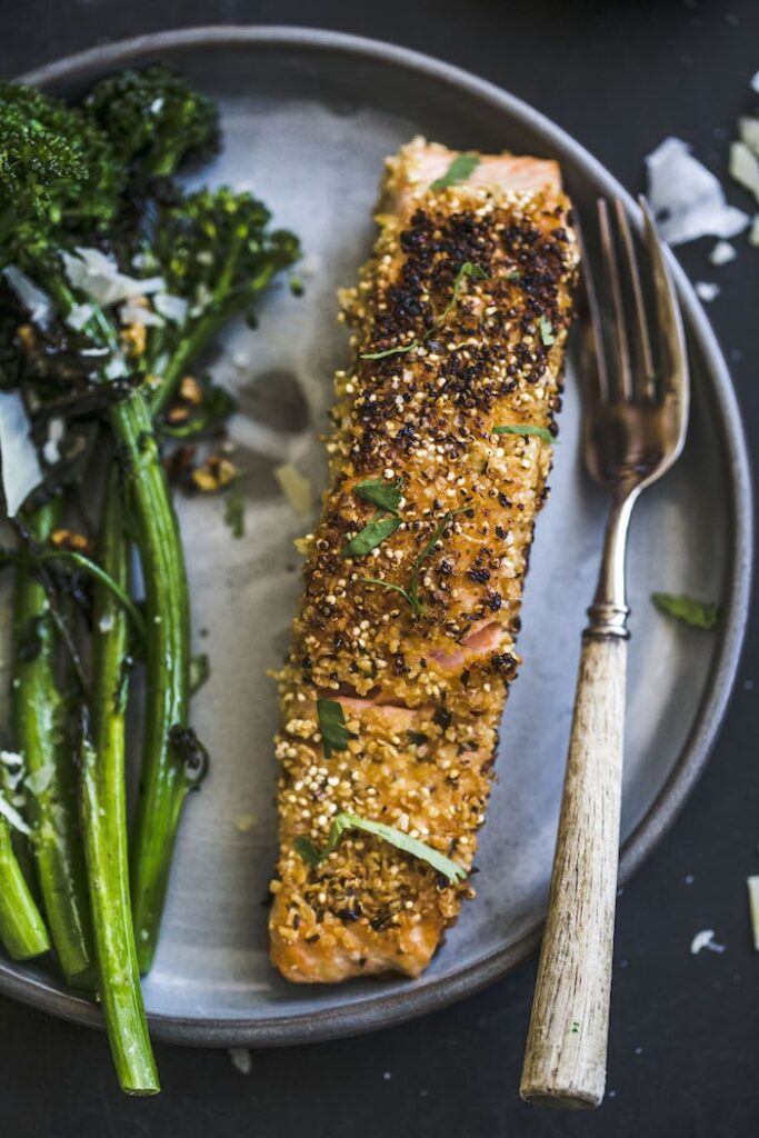 Quinoa Crusted Salmon The Almond Eater