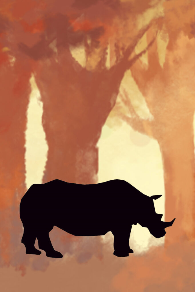 Rhinoceros Forest Printable Nursery Decor