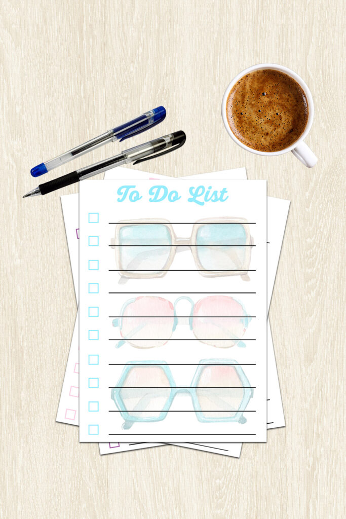 Stack of Printable Summer To Do Lists