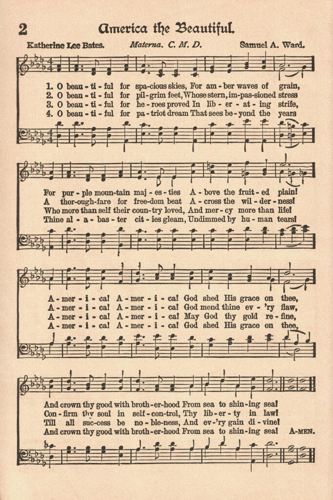 The American Hymnal America the Beautiful