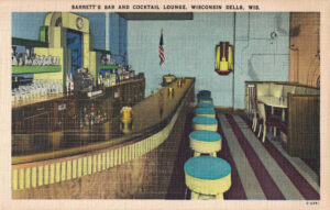 Vintage Postcard Wisconsin Dells Barrett's Bar and Cocktail Lounge