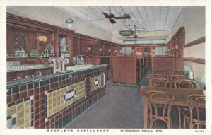 Vintage Postcard Wisconsin Dells Buckley's Restaurant