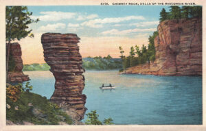 Vintage Postcard Wisconsin Dells Chimney Rock