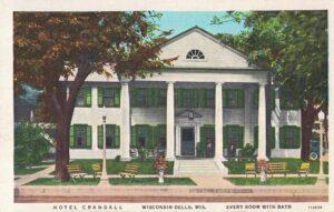Vintage Postcard Wisconsin Dells Hotel Crandall
