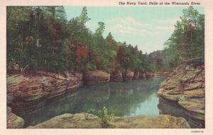 Vintage Postcard Wisconsin Dells Navy Yard 2