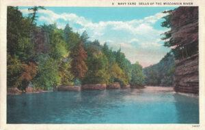 Vintage Postcard Wisconsin Dells Navy Yard