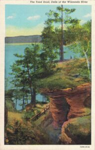 Vintage Postcard Wisconsin Dells The Toad Stool