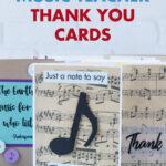 12 Easy DIY Music Teacher Thank You Cards