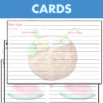 12 Free Printable Summer Recipe Cards