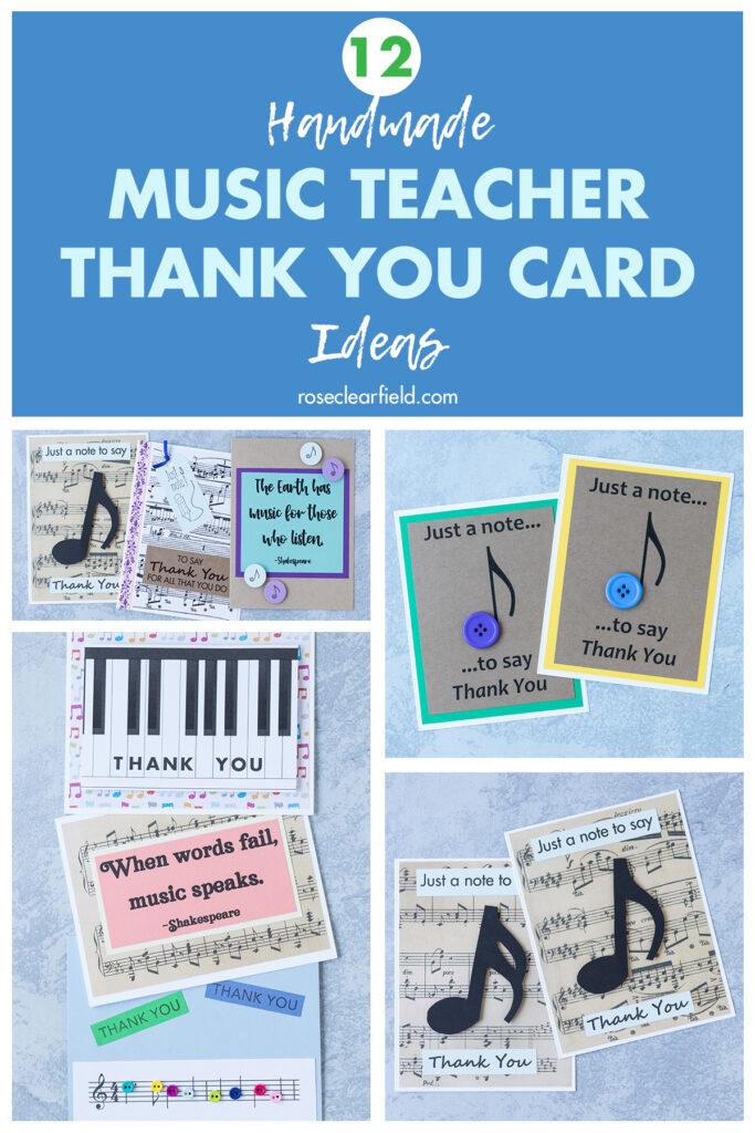 12 Handmade Music Teacher Thank You Card Ideas
