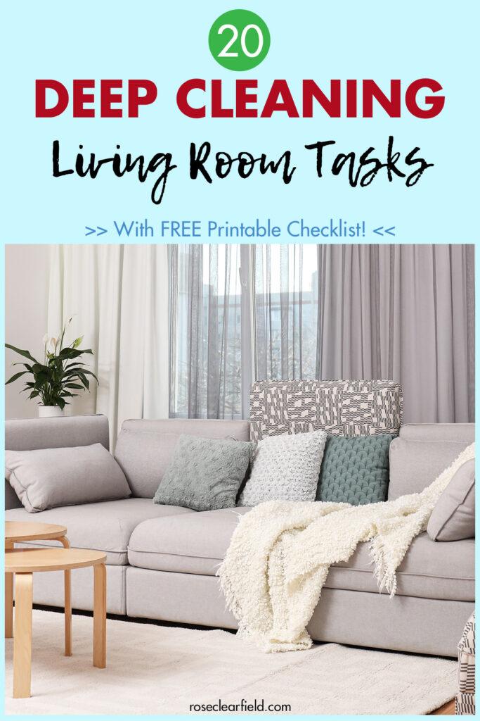 20 Deep Cleaning Living Room Tasks