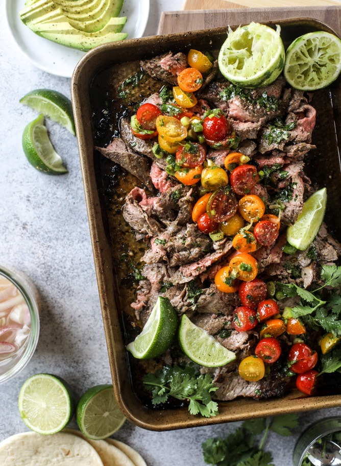 Cilantro Lime Flank Steak How Sweet Eats