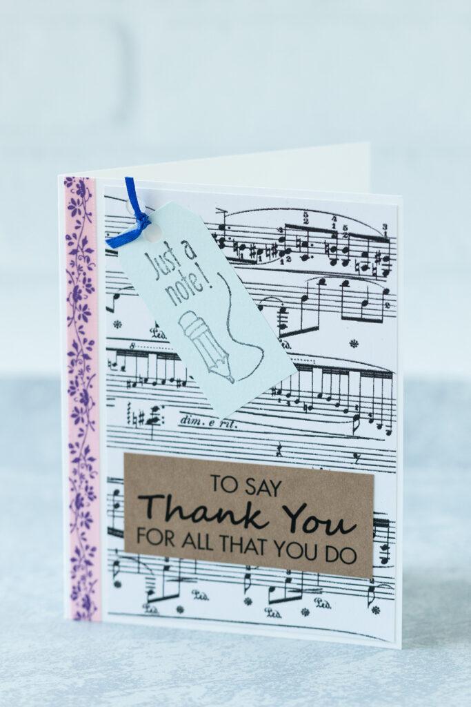 DIY Music Teacher Thank You Card
