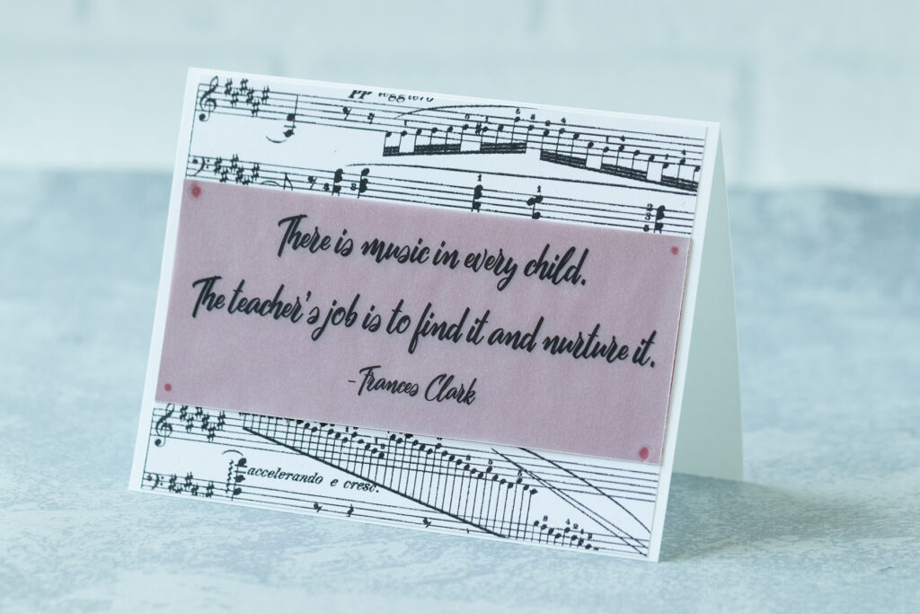 There is Music in Every Child Greeting Card Idea