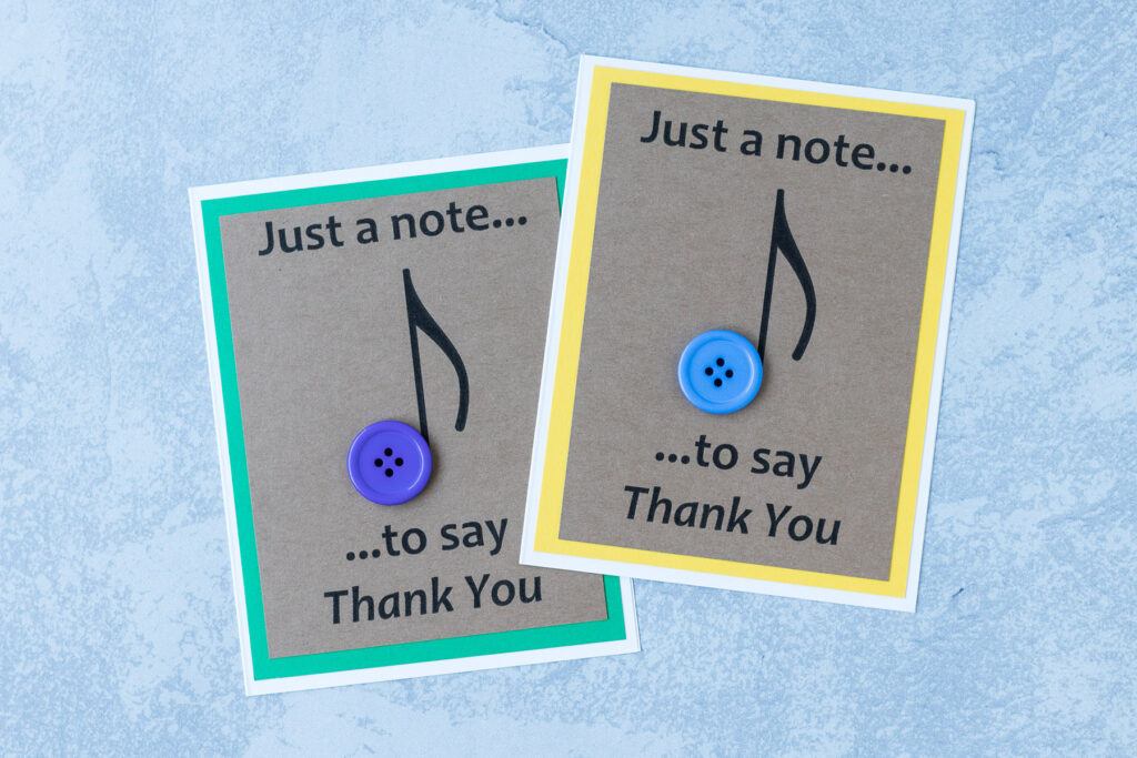 Just a Note to Say Thank You Handmade Greeting Card
