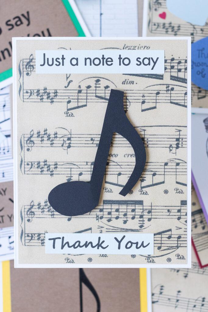 DIY Music Teacher Thank You Cards