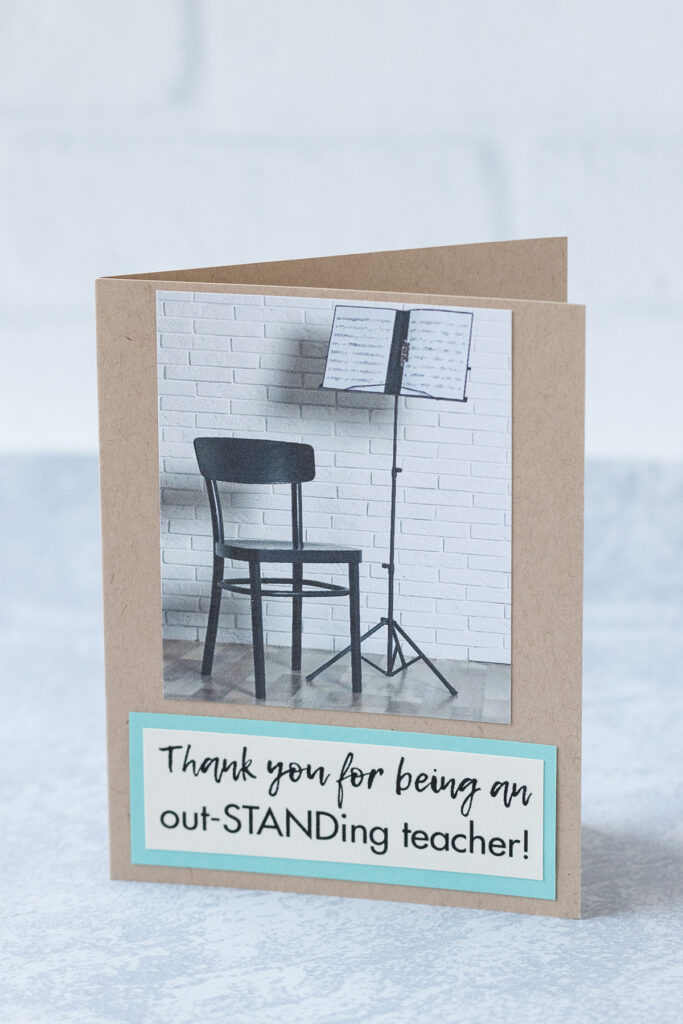Thank You For Being an Out-STANDing Teacher Greeting Card Idea