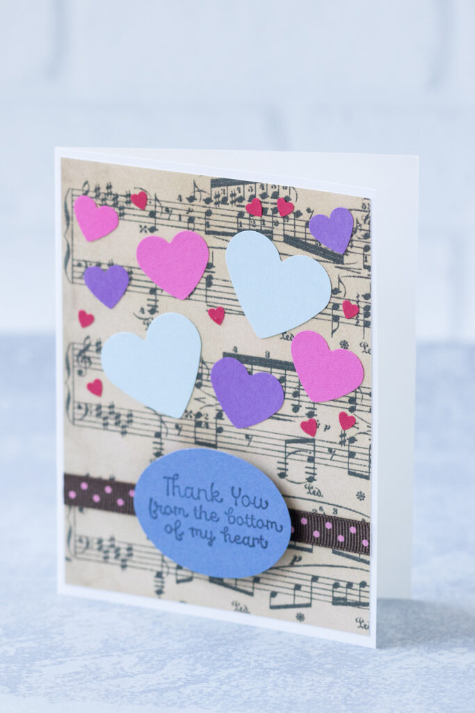 Thank You From the Bottom of My Heart Music Thank You Card