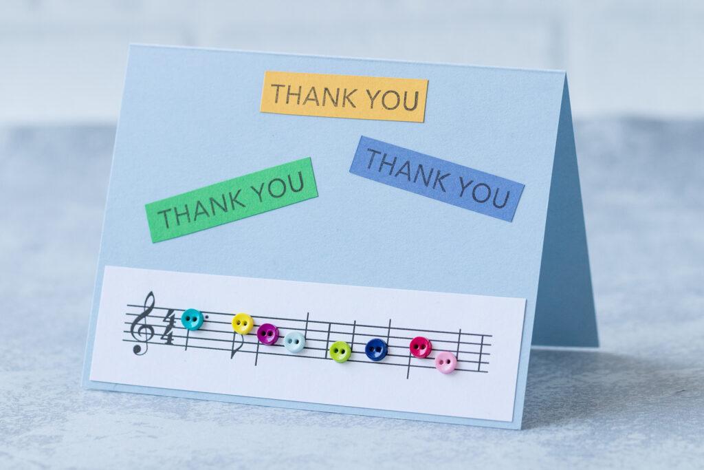 Music Teacher Thank You Card Idea