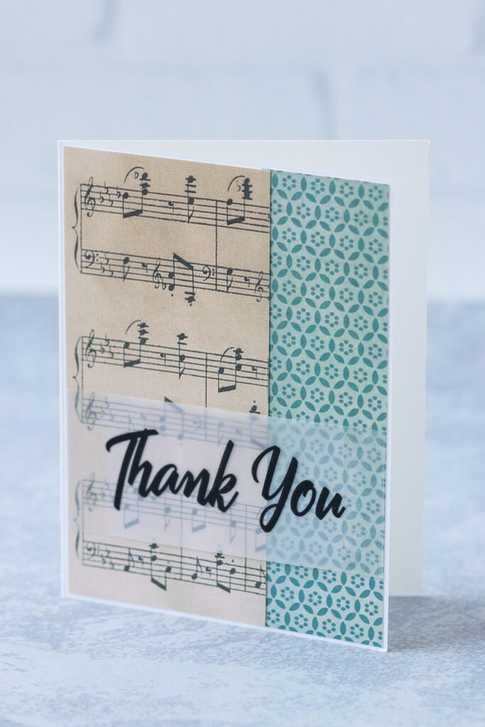 Vintage Sheet Music Thank You Card Idea