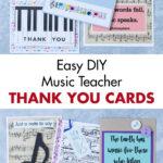 Easy DIY Music Teacher Thank You Cards