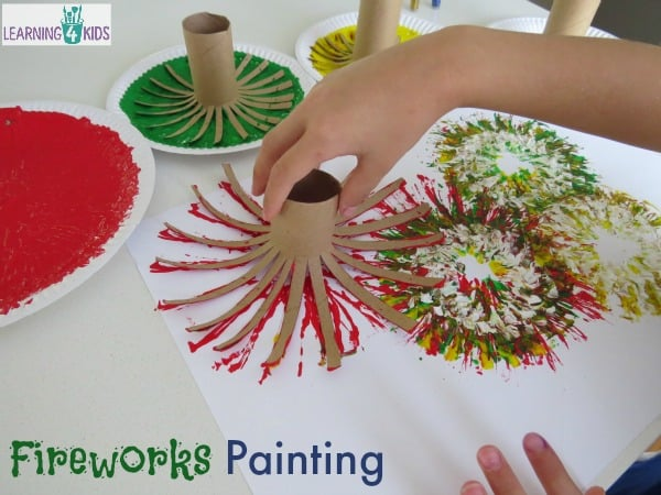 Fireworks Toilet Paper Roll Painting Learning 4 Kids